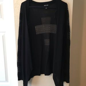 Cardigan with cross on back